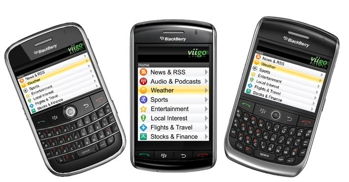 BlackBerry Viigo App for RSS