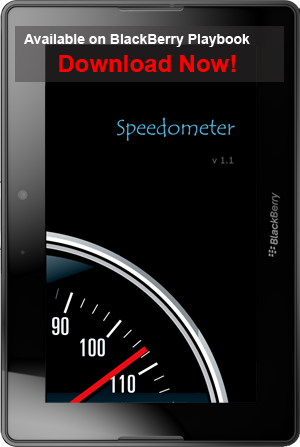 Speedometer for BlackBerry Playbook
