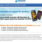 Samsung terminates Symbian developer support