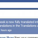 Facebook completely translated to Urdu